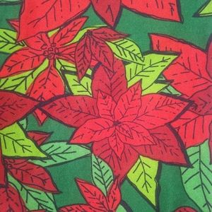 Lularoe Christmas poinsettia leggings. T&C